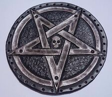 pentagram  GENUINE LEATHER silver PATCH