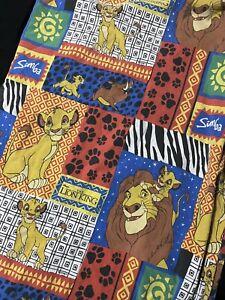 The Lion King Flannel Twin Flat Sheet Vintage Disney 90's Simba Mufassa