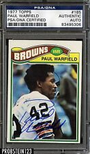 1977 Topps Football Paul Warfield Signed AUTO PSA/DNA AUTHENTIC STOCK PHOTO