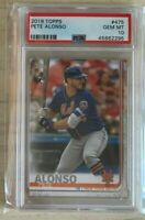 2019 Topps Pete Alonso RC New York METS; PSA 10 Gem Mint #475; Sock Showing