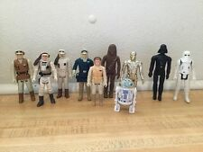 Vintage Star Wars Hoth Snow Figure Lot Empire Strikes Back Vader Solo Luke Leia