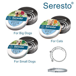 Seresto Bayer Flea and Tick Collar For Large Small Dogs Cats 7-8Month Protection