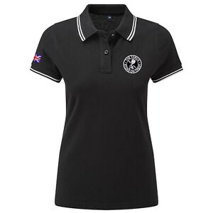 Women's The Torch Polo Shirt With Embroidered Logo. Mod, Ska,Two-Tone Retro