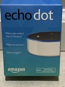 Amazon Echo Dot 2nd Gen Alexa Speaker White new unused complete but missing box