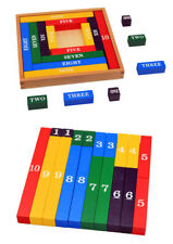 New Montessori Educational Wooden Toys Children Early Number Counting Sticks