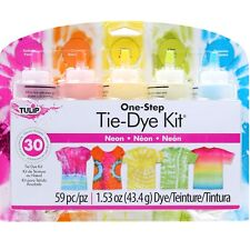 NEON Tie Dye 5 Colour Kit by Tulip - FREE POST - dyes up to 30 items DIY