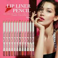 12 Colours Waterproof Lipstick Lip Liner Long Lasting Matte Lipliner Pencil Pen