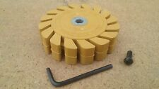 "Vinyl / Stripe Removal Wheel    Caramel Toffee Eraser  5/16"" bolt   Decals Tapes"