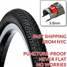 "(1) DSI High Quality Puncture Proof NEVER FLAT 28"" Bike Tires 700x48c 50-622 5mm"
