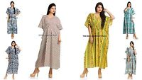 5 PC Lot Vendu en Gros Coton Robe Caftan Indien Maxi Robe Pyjama