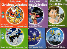 6 promo dvds cardboard sleeves CHRISTMAS CHILDRENS DVDs excellent condition 6dvd
