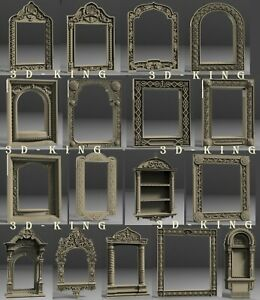 17 Pcs 3D STL Model Christian Church Frames for CNC 3D Printer Engraver Carving