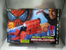 Marvel SPIDER-MAN Dual Action WEB BLASTER+2 Cans Of Web Fluid+2 Extra Cans