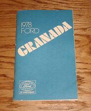 Original 1978 Ford Granada Owners Operators Manual 78