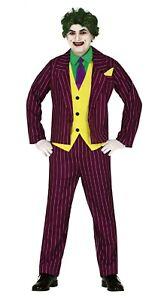 Mens Joker Costume Assassin Adults Halloween Fancy Dress Jester Killer Villain