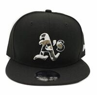Oakland Athletics New Era 9Fifty Black Camo Trim On Field Snapback Hat Cap