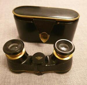Vintage German Hertel & Reuss Optik Kassel Solveig Opera Glasses   and Case
