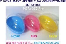 UOVA COFANETTO TRASPARENTE PASQUA 7 Pz mis. 20x13cm CONFEZIONE IDEA REGALO STOCK