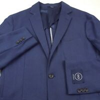 1901 Nordstrom Wool Sport Coat Blazer Jacket Mens 40R Extra Trim Fit Blue