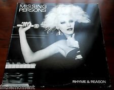 Missing Persons   Rhyme & Reason  1984  Capitol 12315  New Wave  Punk Rock  VG++