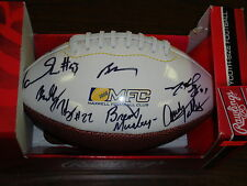 Maxwell Football Club Autographed Mini Football---Colt McCoy--Suh--Musberger +7