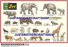 Britains model zoo animaux 1968 format A3 poster display shop signe publicité notice