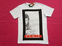 David Bowie Crew Neck Short Sleeve Unisex Cotton T shirt  Black / yellow + Sizes