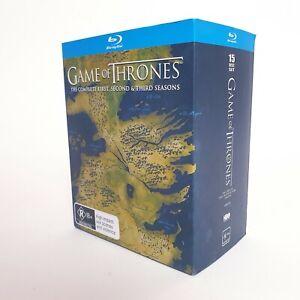 Game Of Thrones Bluray TV Series Season 1 To 3 Region 4 AUS Free Postage Blu-Ray