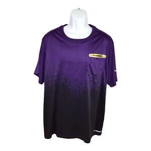 Men's And1 Athletic Shirt Sz 2X Purple Short Sleeve Moisture Wicking Sports Tee