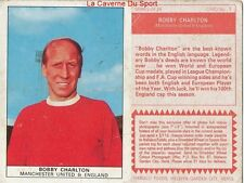 07 BOBY CHARLTON # ENGLAND MANCHESTER UNITED CARD FOOTBALL 1970 NABISCO 2