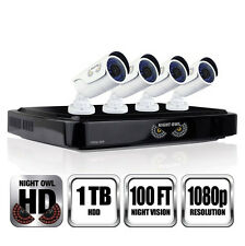 Night Owl AHD10-841 HD Security System - 8 Channel DVR, 1TB HD, 4 X 1080p Cams