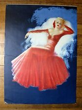 1941 Pin Up Girl Picture by DeVorss Blond in Red Dress Stunning