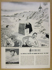 1950 Charles Addams cartoon illustration of the novelty song The Thing clipping