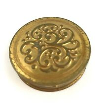 """New listing Avon Radiant Compact Mirror Power Round Goldtone Etched Design 1 1/2"""" Diameter"""