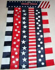 "Patriotic Yard Flag 12"" x 18"" Patriotic Stars And Stripes And Circles"