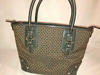 Relic Handbag Purse Brown Black Floral Print Hand Holds
