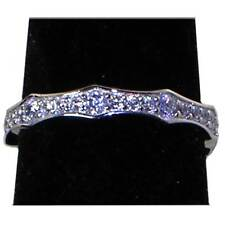 BRILLIANT CLEAR CZ ETERNITY WEDDING BAND OR STACK RING_SZ-8__NF SILVER
