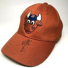 Durham Bulls Wool E Bull Signed Baseball Hat BCBS Sponsor Pro Forma Strapback