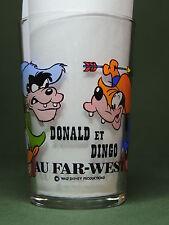 Verre à Moutarde : Donald et Dingo au Far-West Disney - Décoré Illustré
