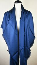 NEW LV Monogram MARINE BLUE Silk Scarf/Shawl 100% Authentic M75511 Louis Vuitton