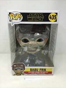 "Funko Pop! Babu Frik #435 Star Wars Large 10"" Inch A"