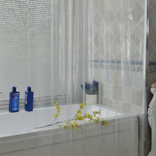 Solid Clear waterproof Bathroom Shower Curtain PEVA Liner Transparent Curtain