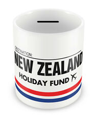 NEW ZEALAND Holiday Fund Money Box - Gift Idea Travelling Savings Piggy Bank