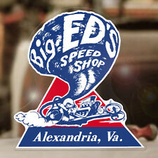 Big Eds Speed Shop sticker decal  hot rod old school drag racing 5.25""