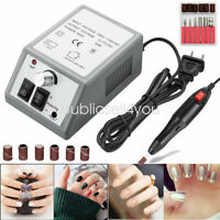Electric Nail File Drill Manicure Machine Art Acrylic Pedicure Tool Set Kit Bits