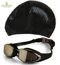 Purposefull Pro Swim Cap, Ear Plugs and Goggles - Professional Swim Accessories