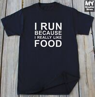 Funny Foodie T shirt Humor Birthday Christmas Gift for Her Running Funny t-shirt