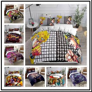 JoJo's Bizarre Adventure Anime Duvet Cover 3 Pieces Bedding Set Pillowcase