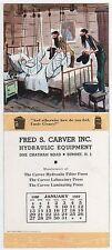 Summit, NJ, Fred Carver, Mt  Boys,  Jan 1957 Calendar advertising blotter