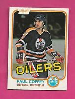 1981-82 OPC # 111 OILERS PAUL COFFEY  ROOKIE VG CARD (INV# D0848)